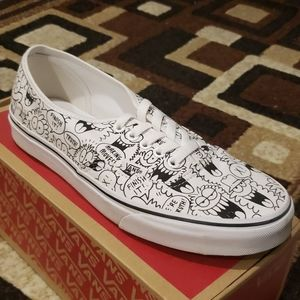 White Vans Drawing by Kevin Lyons